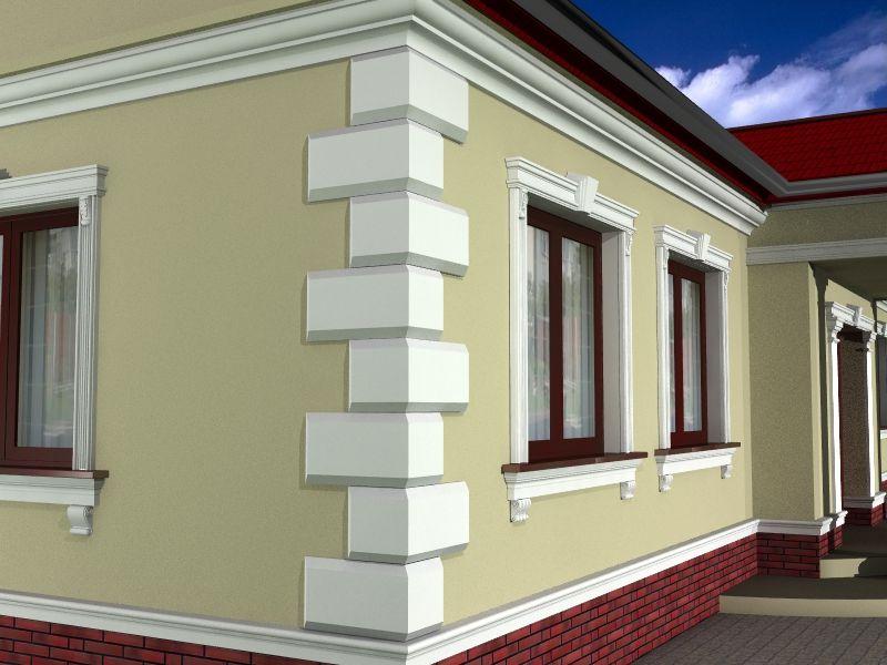 Декор для фасада дома - босажи