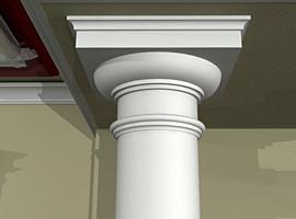 Фасадный декор - колонны, полуколонны