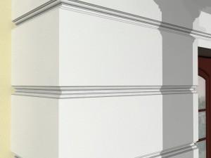 Декор фасадный - рустовая полоса