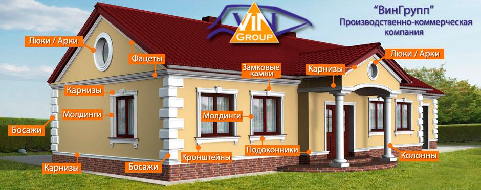 Фасадный архитектурный декор ВинГрупп