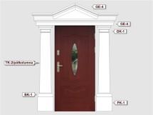 Фасадный декор - возможное сочетание BK 1