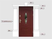 Фасадный декор - возможное сочетание GK 1