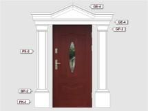 Фасадный декор - возможное сочетание GP 2