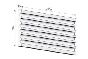 Тело (стержень) пилястры PE 1-400