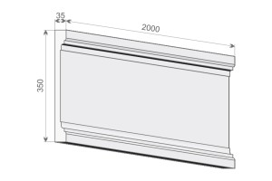 Тело (стержень) пилястры PE 2-350