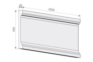 Тело (стержень) пилястры PE 2-400