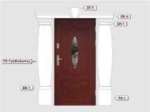 Фасадный декор - возможное сочетание PK 1