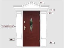 Фасадный декор - возможное сочетание TK 1