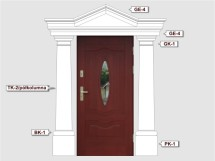 Фасадный декор - возможное сочетание TK 2