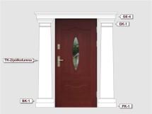 Фасадный декор - возможное сочетание TK 3